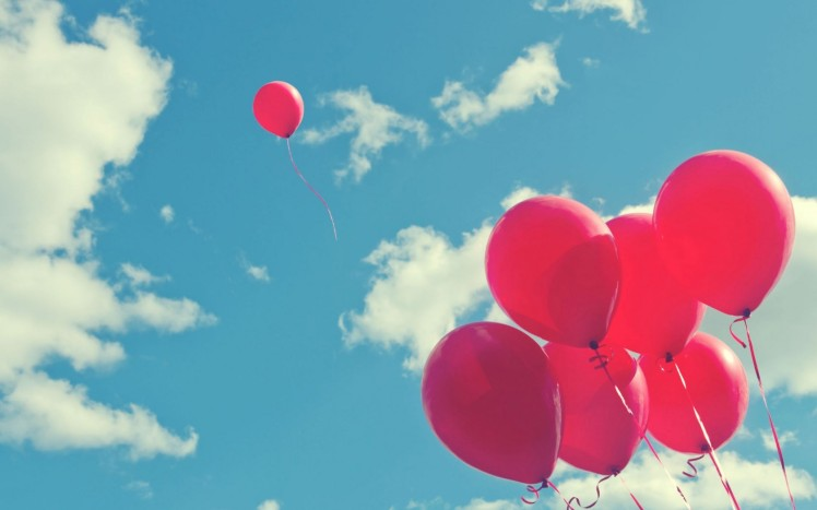 balloons-pink-sky-clouds-joy-celebration-fun